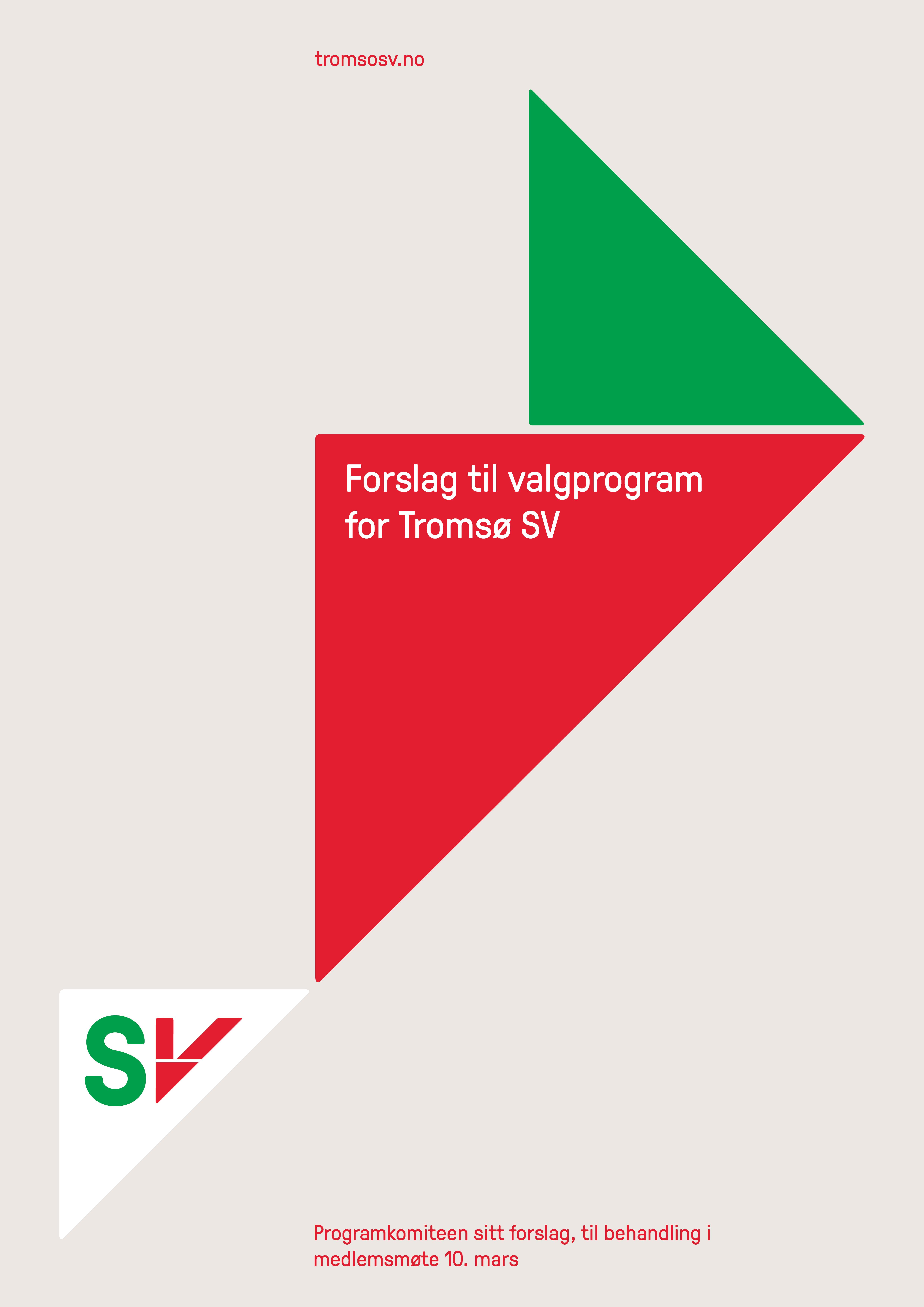 Forslag til program for Tromsø SV