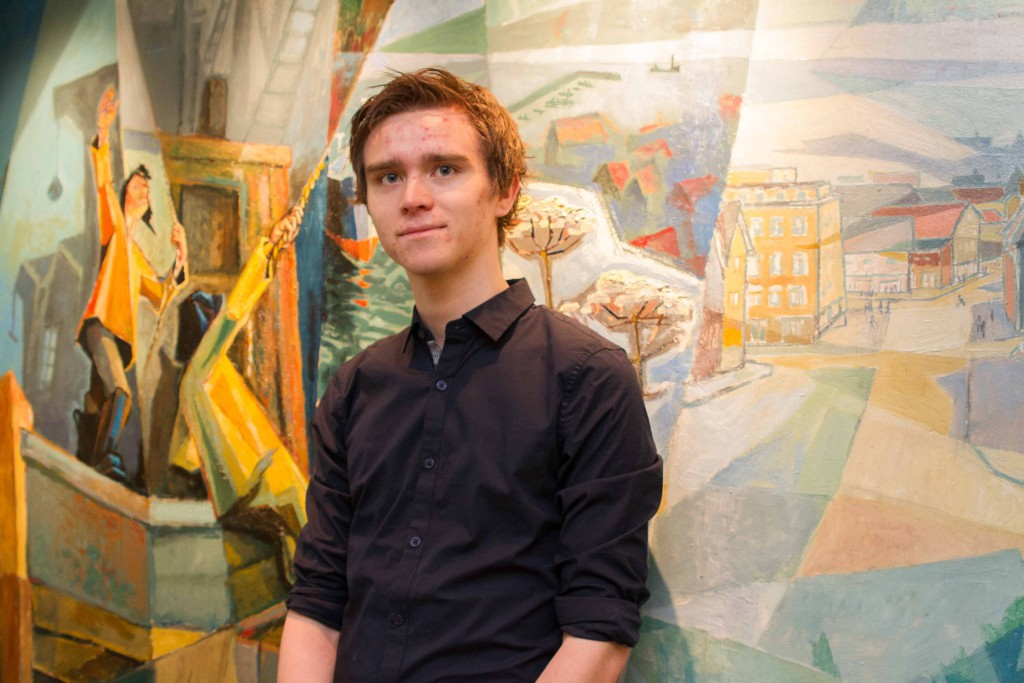 Benjamin Notkevich er fjerdekandidat for SV deltok i flere skoledebatter for SV.