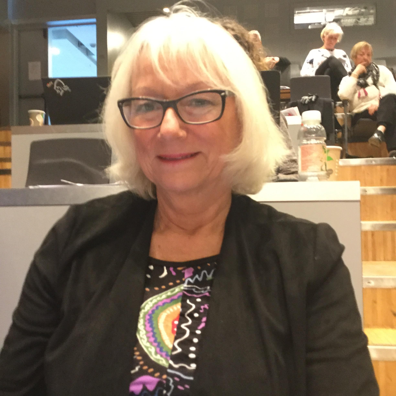 Gunhild Johansen i kommunestyresalen