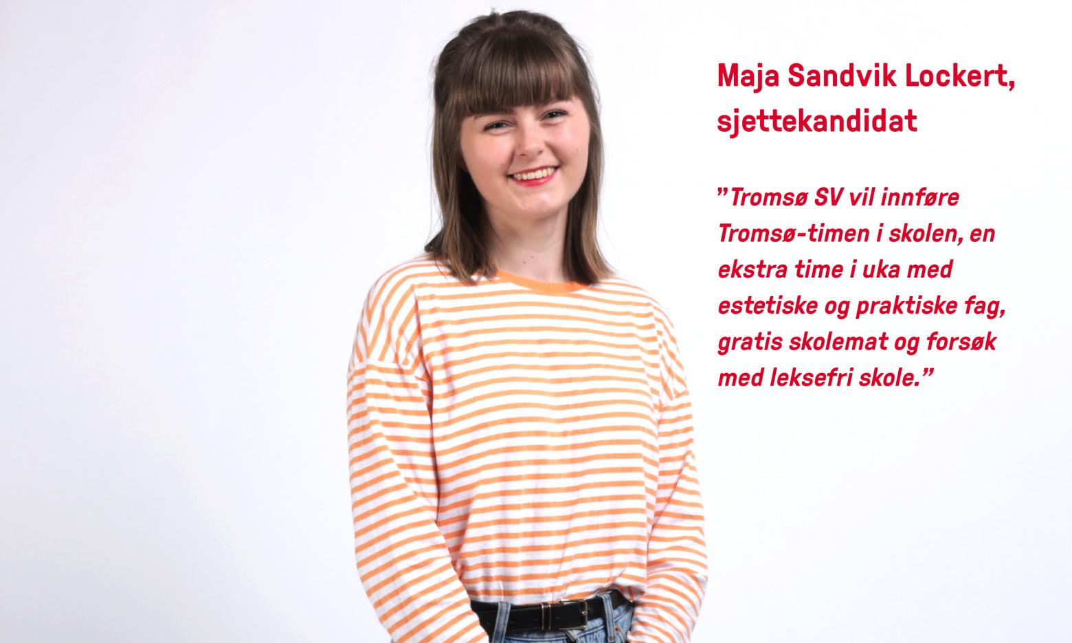 Portrett Maja Lockert kvit bakgrunn med Tekst